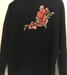 Zara moder pulover z rožami