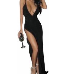 Dolga črna obleka