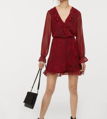 HM leopard red dress