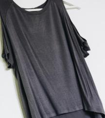 crop majica s spuščenimi rameni / ne menjam