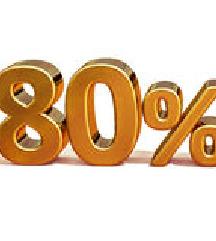 80% POPUST NA VSE