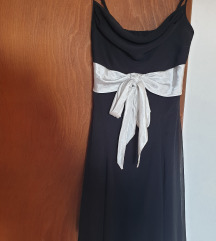YESSICA črna oblekica z belim paskom