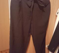 Zara črne modne hlače s pentljo XL