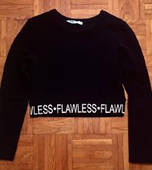 Črna crop top majica M
