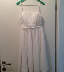 Bela obleka nošena 1x