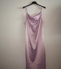 Satin obleka - barve lavanda