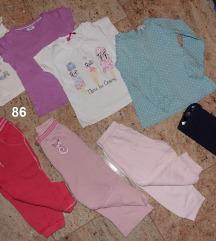 86 in 80 dekliška oblačila: hlače majice jope bodi