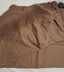 jeans ženske kavbojke - olivno/rjave barve