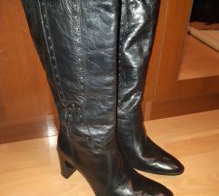 Črni Usnjeni škornji 39 ITALY s poštnino