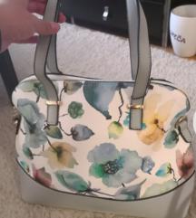 Srednje velika nova torbica z motivi rož