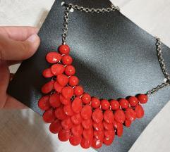 Ogrlica rdeca