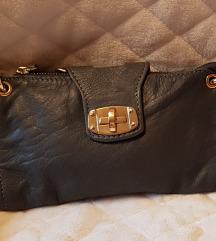 AKCIJA! Usnjena siva torbica
