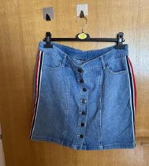 Jeans krilo z detajli