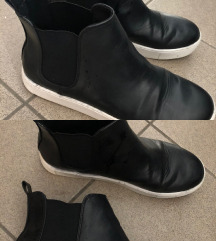 Usnjene crne superge H&M