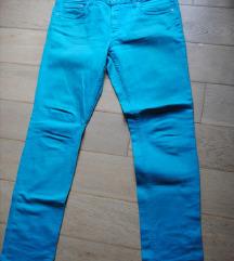 H&M turkizne jeans hlače