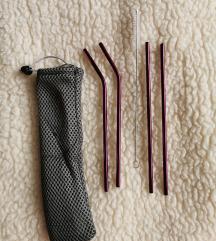 Kovinske slamice (nove, vijolicna)