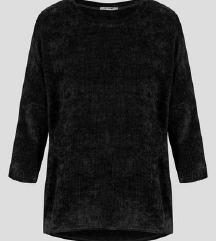 nov plišast črn pulover Orsay