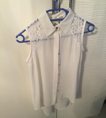 2x bela čipkasta bluzica