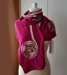 Roza šal - unikaten