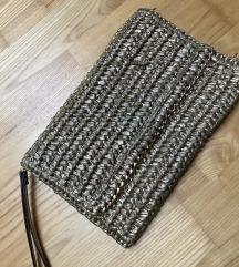 Zlata pletena torbica