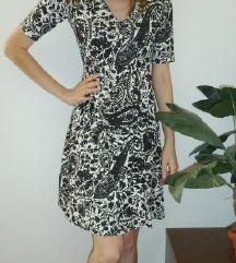 NOVA črno-bela obleka, vel. 36 (S)