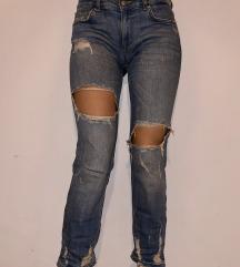 Zara damaged jeans