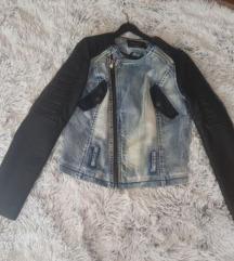 Jeans-usnjena jakna
