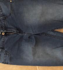 Temnomodre jeans hlace C&A