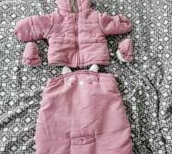 Dekliška jakna 62, vrecka in rokavicke