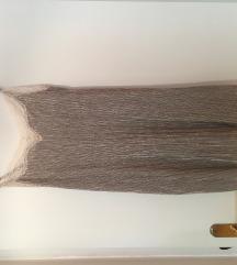 Obleka z naramnicami in čipko