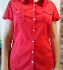 Rdeča srajčna bluza