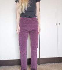 %%%ZNIŽANO Max&Liu bordo žametne hlače