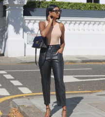 Zara leather trousers