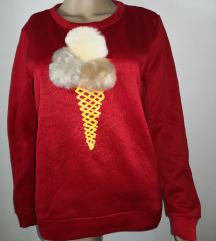 Nov rdeč pulover z puhom