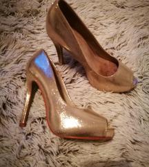 Sandali z visoko peto-zlati