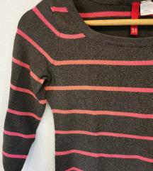 Črtast 3/4 pulover
