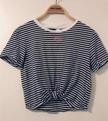 Mornarska majica, crop top - NOVO