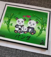 Slika: pandja družina/ panda
