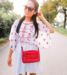 Zara NOVA embroidred obleka