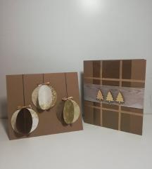 Ročno izdelane božično-novoletne voščilnice