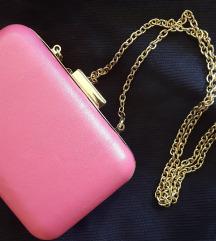 Clutch torbica - roza