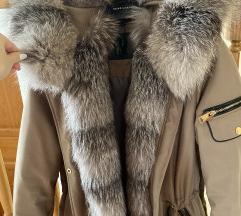 Krznena parka - srebrna lisica