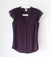 H&M prosojna bluza vijolična