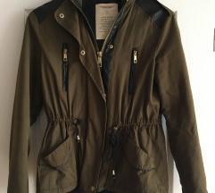 ZARA - temno zelena jakna/bunda