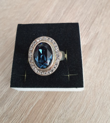 Srebrni prstan (pravo srebro,cirkon) vel.59