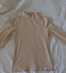 turtleneck majica nude barve