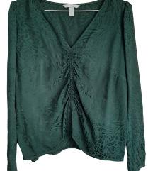 Temno zelena bluza