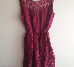 NOVA elegantna/ svečana bordo rdeča obleka