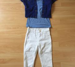 3/4 skinny jeans + majica in bolero