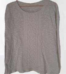 PROMOD bel pulover s teksturo